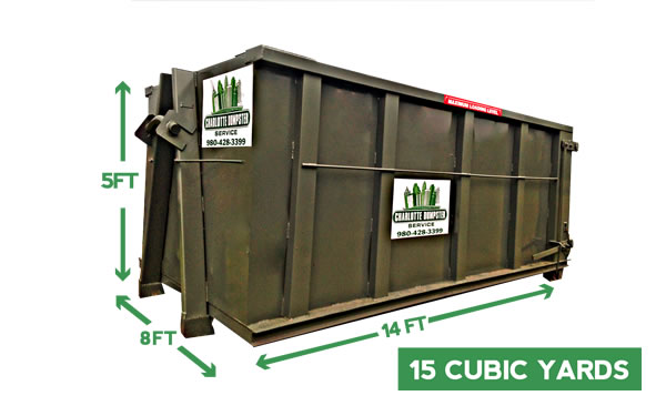 dumpster rental sizes and dimensions 15 yard dumpsters