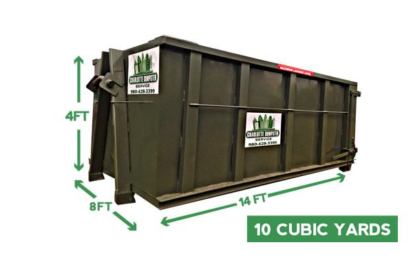 dumpster dimensions charlotte 10 yd dumpster