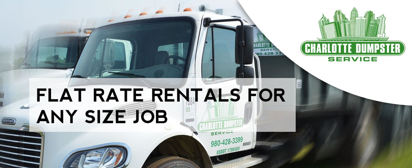 Flat Rate Rentals for any size job